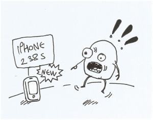 novedad. iphone, psiología consumo.