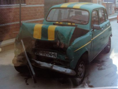 renault 4l 4 latas choque crash